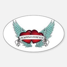 Always And Forever Rockabilly Winged Heart Decal