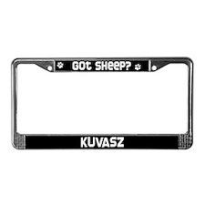got sheep? Kuvasz License Plate Frame