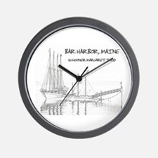 Bar Harbor Schooner Wall Clock