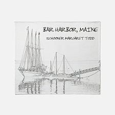 Bar Harbor Schooner Throw Blanket