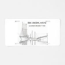 Bar Harbor Schooner Aluminum License Plate