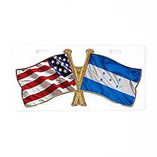 Honduras Friend ship Flag Aluminum License Plate