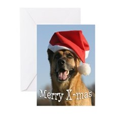 Cute Beautiful german shepherd Greeting Cards (Pk of 20)