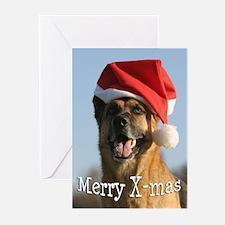 Unique German shepherd santa claus Greeting Cards (Pk of 20)