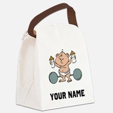 Weightlifter Baby Canvas Lunch Bag