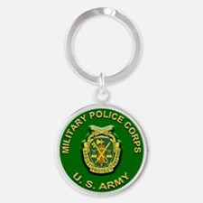 Unique Army military police Round Keychain