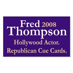 Fred 2008 Cue Card Actor Decal