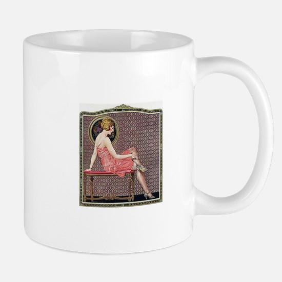 1920s Flapper Woman Relaxed Pose Mugs