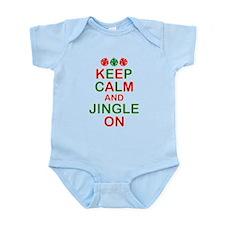 Keep Calm Jingle On Infant Bodysuit