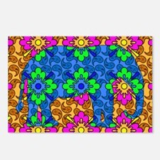 Colorful Paisley Elephant Postcards (Package of 8)