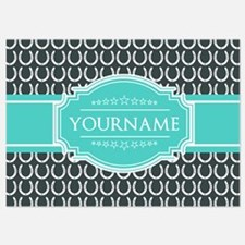 Personalized Horseshoes Pattern - A Invitations