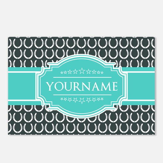 Personalized Horseshoes P Postcards (Package of 8)