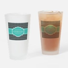 Personalized Horseshoes Pattern - A Drinking Glass