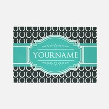 Personalized Horseshoes Pattern - Rectangle Magnet