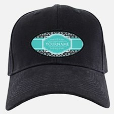 Personalized Horseshoes Pattern - Aqua N Baseball Hat
