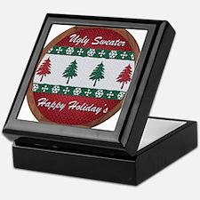 Unique Ugly christmas tree Keepsake Box