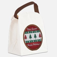 Cute Cross stitching Canvas Lunch Bag