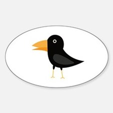 Black cute raven Decal