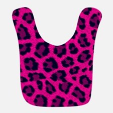 Hot Pink Leopard Animal Print Bib