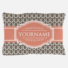 Personalized Horseshoes - Beige and Co Pillow Case