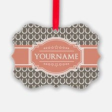 Personalized Horseshoes - Beige a Ornament