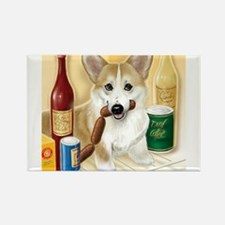 Funny Dog wine Rectangle Magnet