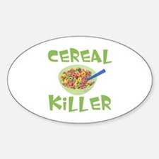 Cereal Killer Oval Decal