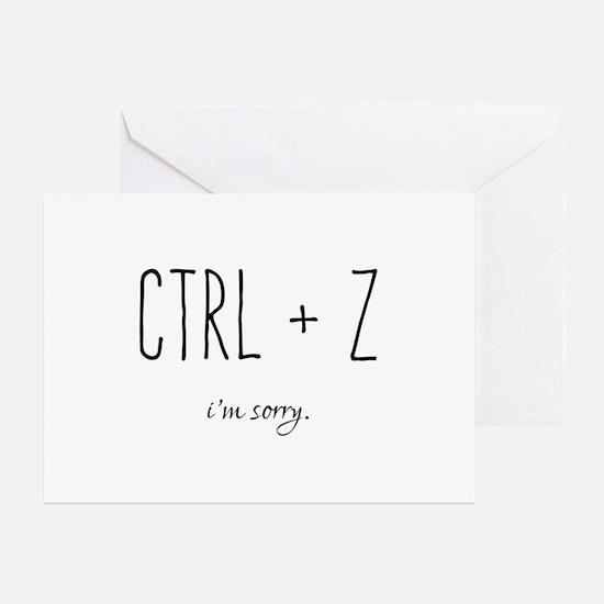 I'm Sorry - CTRL Z - Undo Greeting Cards