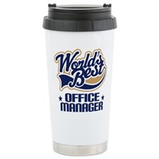 Cute Worlds best office manager Travel Mug
