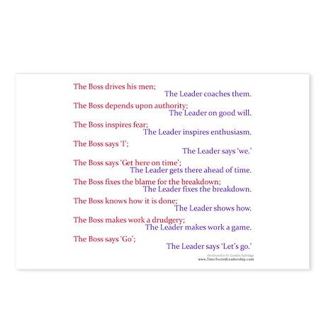 Boss vs Leader Postcards (Package of 8)