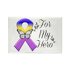 Bladder Cancer For My Hero Rectangle Magnet