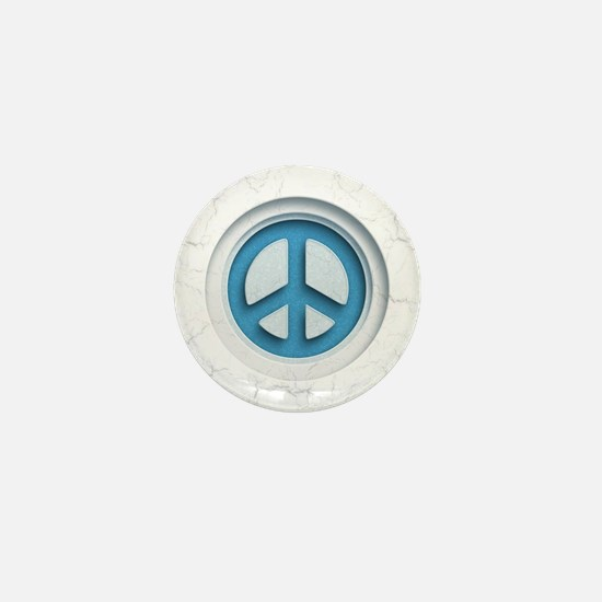 Carved Marble Peace Mini Button