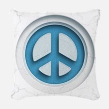 Carved Marble Peace Woven Throw Pillow