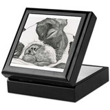 Boston terrier Keepsake Boxes