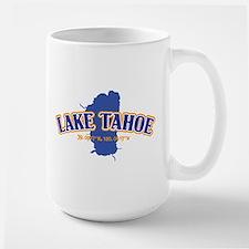 Lake Tahoe with map coordinates Mugs