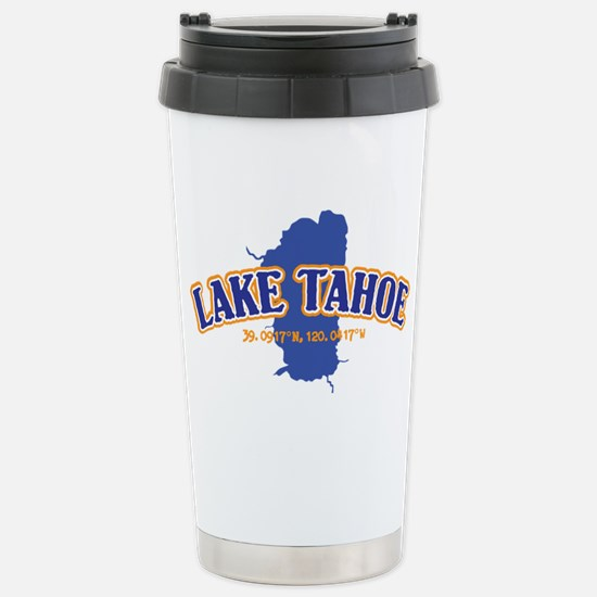 Lake Tahoe with map coo Stainless Steel Travel Mug