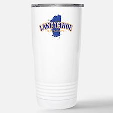 Lake Tahoe with map coo Travel Mug