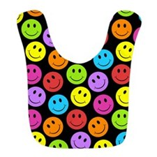 Happy Colorful Smiley Faces Pattern Bib