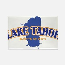 Lake Tahoe with map coordinates Magnets