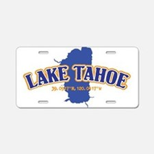 Lake Tahoe with map coordin Aluminum License Plate
