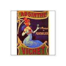 "Unique Absinthe Square Sticker 3"" x 3"""