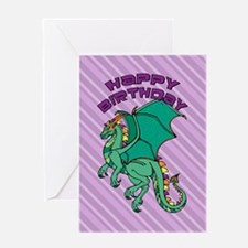 Green Dragon Birthday Greeting Card