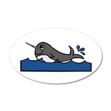 Narwhal Splash Wall Decal