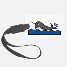 Narwhal Splash Luggage Tag