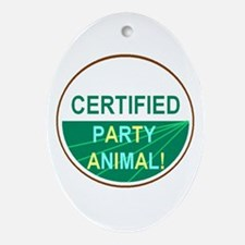 PARTY ANIMAL Oval Ornament