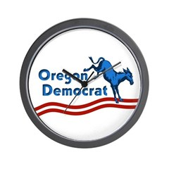 Oregon Democrat Wall Clock