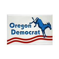 Oregon Democrat Rectangle Magnet