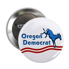Kicking Donkey Oregon Democrat Button