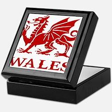 cymru wales welsh cardiff dragon Keepsake Box