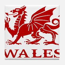 cymru wales welsh cardiff dragon Tile Coaster